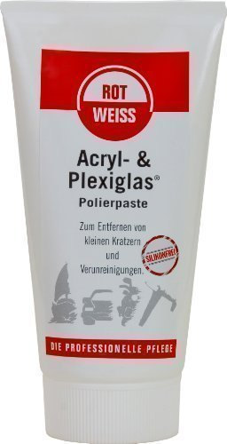 Preisvergleich Produktbild 150 ml Rotweiss Acryl- & Plexiglas Polierpaste 5350