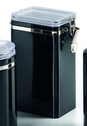 Dose mit Aroma-Bügel-Verschluss, schwarz (für max. 500g Tee) - Bügel-tee