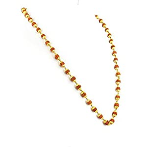 Majik Gold Plated Rudraksha Chain for Men and Women