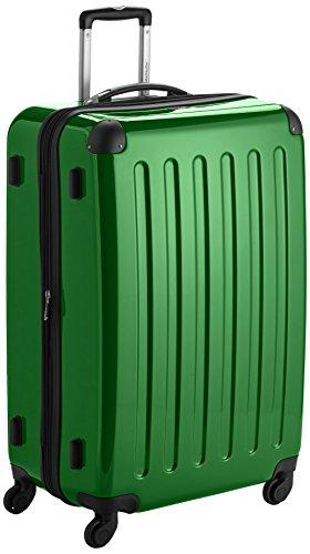 HAUPTSTADTKOFFER - Alex - Hartschalen-Koffer Koffer Trolley Rollkoffer Reisekoffer Erweiterbar, 4 Rollen, 75 cm, 119 Liter, Grün
