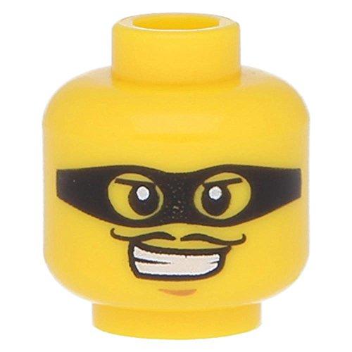 Preisvergleich Produktbild LEGO® Figuren, Kopf männlich schwarze Maske mit Gucklöchern, Gelb