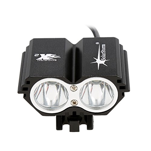 Ncient 5000 Lumen LED Beleuchtungsset Wasserdicht IPX4 Wiederaufladbare Fahrradlampen Frontlicht Fahrradbeleuchtung Fahrradlicht schwarz Fahrradbeleuchtung 5000 Lumen
