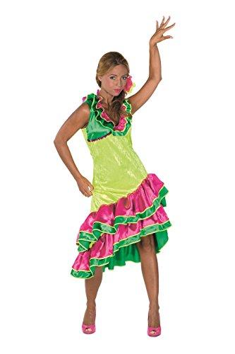 Kostüm Tanz Karibik - L3200770-48 Damen Karibik Kostüm Kleid Gr.48