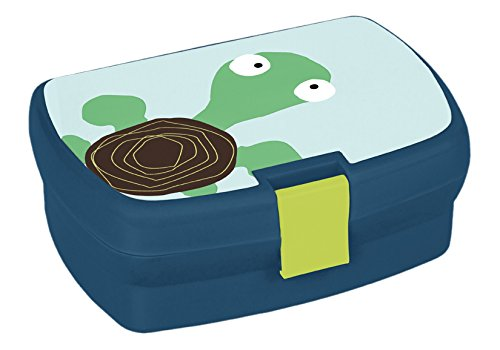 Lässig Kinder Lunchbox Brotdose Snackbox mit herausnehmbaren Fächern, Wildlife Turtle