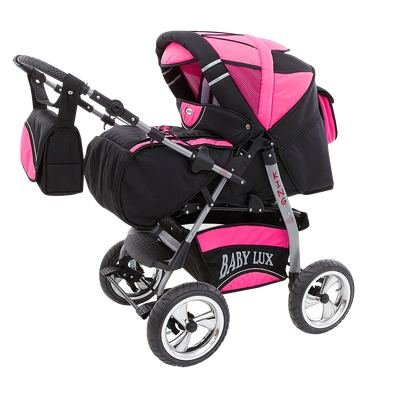 Kinderwagen King Cosmic Black & Pink