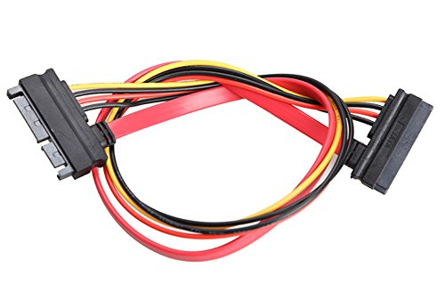 SaySure - 22 Pin Male to Female 7+15 pin SATA Data Power Combo