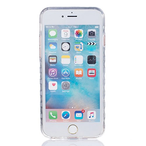 Sunroyal Hülle für iPhone 6/6S (4.7 inches) Silicone Case Cover, Scratch-resistant Ultra Slim TPU Case Cover Soft Protective with Pattern Design Transparent Soft silicone Cover Pattern 02