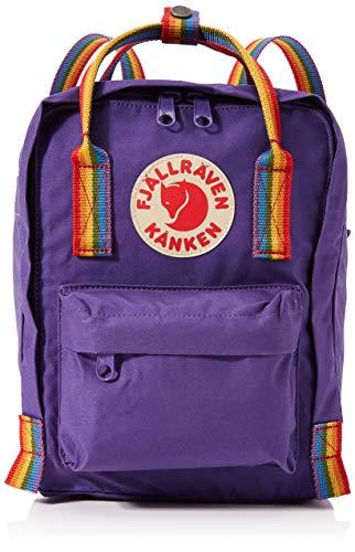 Fjällräven Kånken Rainbow Mini Rucksack, 29 cm, 7 Liter, Purple-Rainbow Pattern