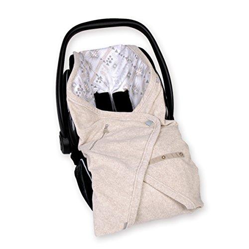 Preisvergleich Produktbild Bemini by Baby Boum 392APAWI88TM Einschlagdecke für Babyschale BISIDE Baumwolle + Frottee  APAWI jerry 90 x 90 cm ,Beige