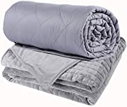 Weighted Blanket Adult - Sensory Calming Blanket - Anti-Anxiety Blanket for Better Sleep, Reduce Stress, Anxie