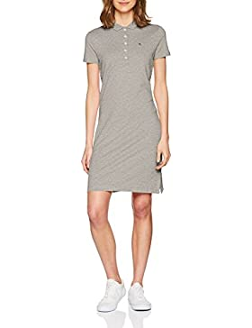 Tommy Hilfiger Chiara Str Pq Dress SS, Polo para Mujer, Gris (Light Grey Htr 039), 36 (Talla del Fabricante: X-Small)