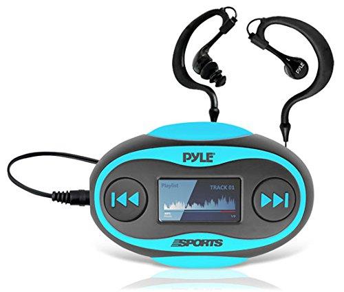 Pyle B00EEJZGGG 4GB Wasserdichter MP3 Player (FM-Radio, Schrittzähler, Stoppuhr, LCD-Display, Kopfhörer) blau