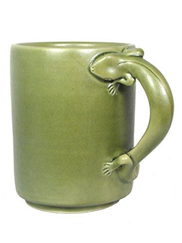SAWA Keramik Becher Gecko mit Henkel Kaffeebecher Kaffeetasse Geschenkidee