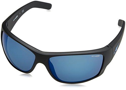 Arnette 0an4215 01/55 66, occhiali da sole uomo, nero (matte black/mirrorbluee)
