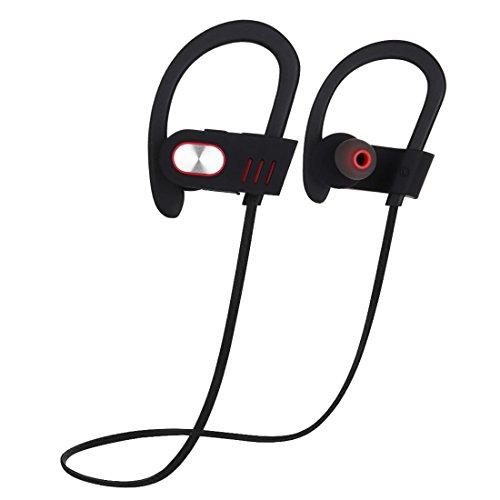 Joyeer Bluetooth Ohr Haken Kopfhörer mit Mic Profi Sport Musik Headset Wireless Schweißsichere Geräusche Abbrechen Kopfhörer für Smartphones , silver