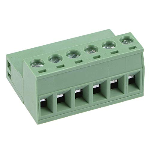 ZCHXD 6 Pairs 5.08mm Pitch 6Pin Pluggable Terminal Block Connector Male and Female for PCB -