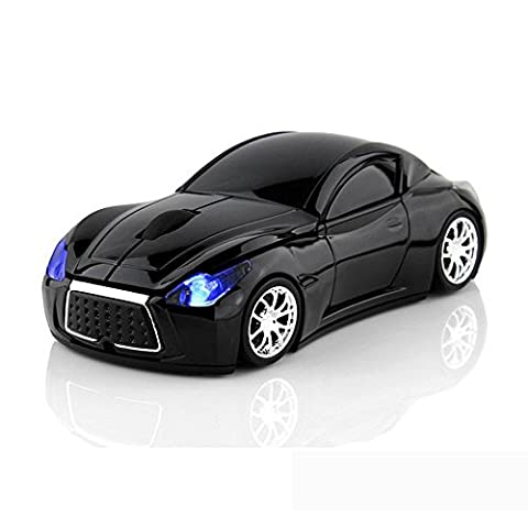 Wireless Mice Sports Car Computer Mouse Laptop Optical Gaming Mouse (Black)