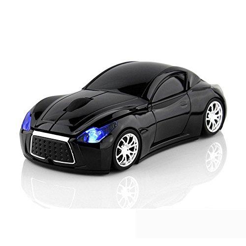 Wireless Maus Sport Auto Computer Mäuse Laptop optische Gaming Maus schwarz (Pc-maus Auto)
