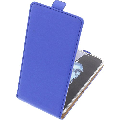 foto-kontor Tasche für Alcatel Flash Plus 2 Smartphone Flipstyle Schutz Hülle blau