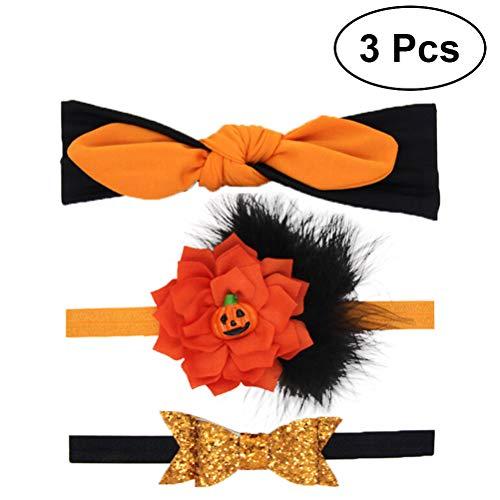 Lurrose 3pcs neonate piume di halloween fascia morbida elastico copricapi cravatte di halloween accessori per capelli