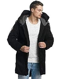 5f1f91b6e271 khujo Herren Parka John with Innerjacket schwarz Black Unkar Winterjacke  Jacke Mantel