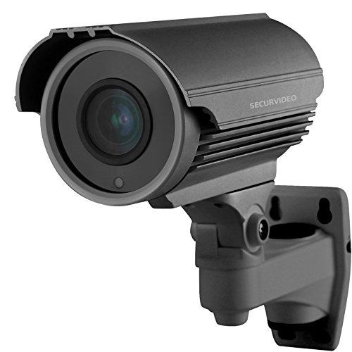 Telecamera di Videosorveglianza Ibrida 2Mpx 1080p Full HD Sony cmos AHD CVI TVI cvbs VISIONE NOTTURNA Varifocale Lenti Zoom 4X 2.8-12mm Joystick OSD IP66 (grigio 2Mpx 1080p)