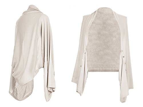 Obbsession - Poncho - Cappotto -  donna Beige 5 in 1