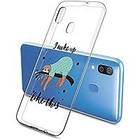 Oihxse Funda Samsung Galaxy J2 Pro 2018, Ultra Delgado Transparente TPU Silicona Case Suave Claro Elegante Creativa Patrón Bumper Carcasa Anti-Arañazos Anti-Choque Protección Caso Cover (A16)
