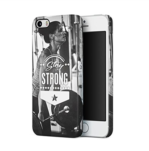 Excuses Dont Burn Calories Apple iPhone 5 / iPhone 5S / iPhone SE SnapOn Hard Plastic Phone Protective Custodia Case Cover Stay Strong