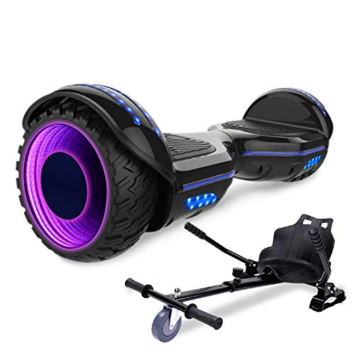 "Mega Motion Hoverboard Elektro Scooter-8.5"" Off-Road Hummer -E-Skateboard- LED - All-Road Segway(Pink)"