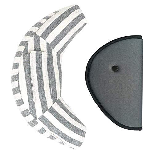 fancyU Auto Sicherheitsgurt Kissenbezug Komfortable Kopfstütze Schulterpolster mit Auto Sicherheitsgurt Teller für Kinder Baby Erwachsene Hals Unterstützung -