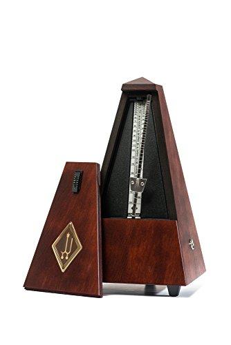 Wittner Taktell Pyramidenform Metronom Holzgehäuse ohne Glocke mahagonifarbig-matt