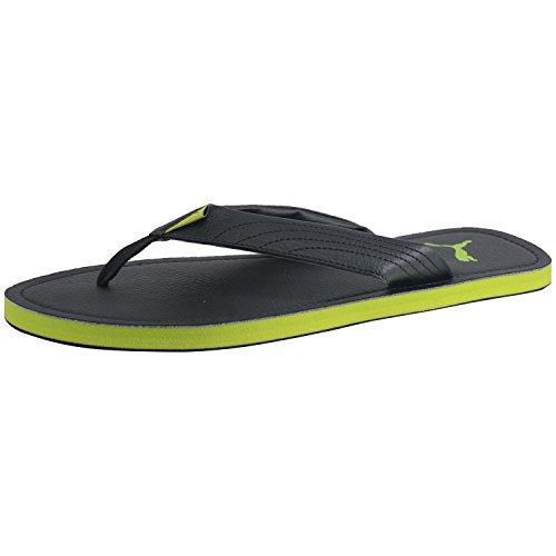 PUMA MEN BLACK GREEN FLIP FLOP SLIPPERS Ketava III DP Flip-Flops & House Slippers at amazon