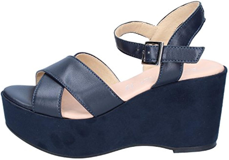 Donna  Uomo ELISA CONTE Sandali Donna Pelle Blu Blu Blu Molte varietà bello Prezzo economico | Nuovo Prodotto 2019  060a8e