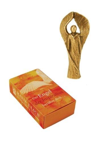 Bronzefigur »Der Engel der Inspiration berühre dich ...«, Bronzeengel