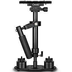 """Orsda® 15,7 """"/ 40 cm aleación de aluminio cámara estabilizadora Steadicam Steadycam con placa de liberación rápida 1/4"""" tornillo para cámara réflex hasta 3.3 libras / 1.5killogram OR210"""