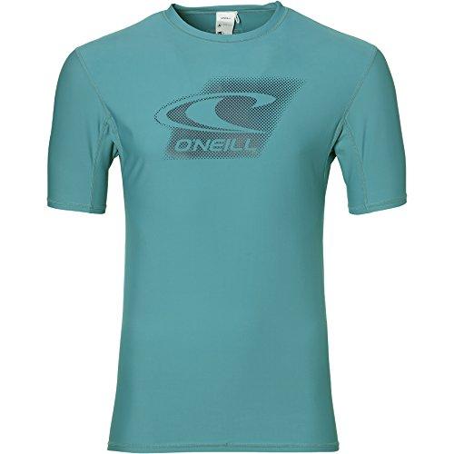 O'Neill Herren Creek s/SLV Rashguard Bademode Mit Uv-Schutz Shirt, Veridian Green, S