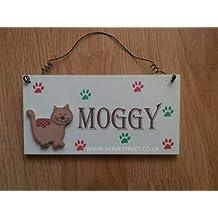 Colgante de madera signo de regalo de gato con mensaje–Lee 45,7x 45,7
