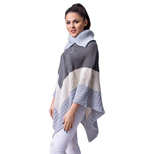 Fancy That Clothing - Poncho - Cappotto -  donna Grey