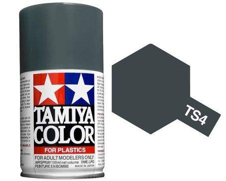 Tamiya 85004. Spray TS-4. Pintura esmalte color Gris Aleman