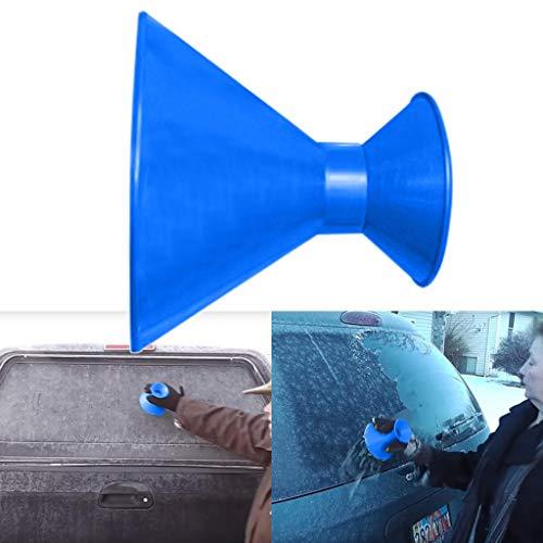 Messigschaber Eiskratzer Eisschaber für Das Auto, Winter Kratzen Sie ein rundes magisches kegelförmiges Eisschaber Windschild-Eiskratzer-Schneeschaufelwerkzeug für Auto Windschutzscheibe und Fenster