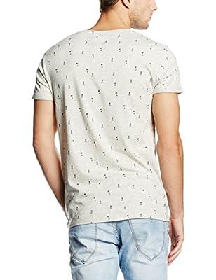 edc by Esprit Men's 056cc2k006 - Sommerlichem Druck Short Sleeve Sports Shirt