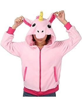 Einhorn Kostüm Jacke Kapuzenpullover Pyjama Sweatshirt Tieroutfit Hoodies Reißverschluss mit Kapuze Tier Cosplay...