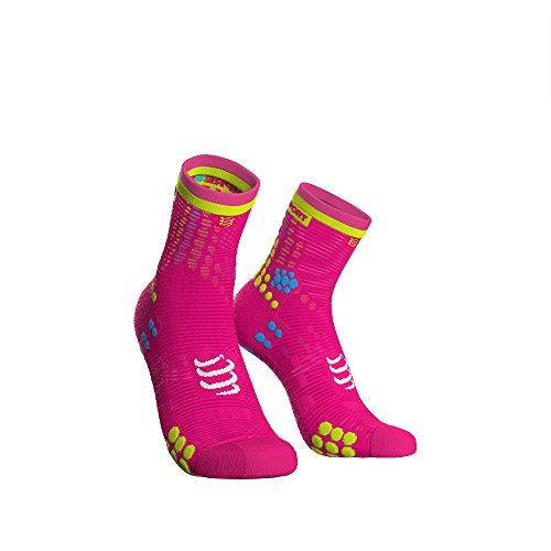 Compressport Pro Racing Socks V3 Run High Fluo Pink 45-48