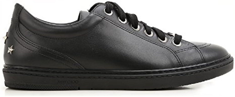 Jimmy Choo Hombre CASHSML174BLACK Negro Cuero Zapatillas  -