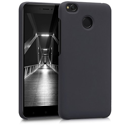 kwmobile Hülle für Xiaomi Redmi 4X - Backcover Case Handy Schutzhülle Kunststoff - Hardcase Cover Anthrazit