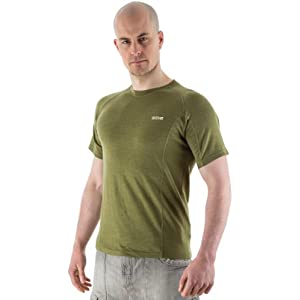 41Tln1wGK%2BL. SS300  - EDZ 200gsm Men's Merino Wool Base Layer T-Shirt