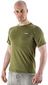 Edz Men's Merino Wool Base Layer T-Shirt - Olive Green, 2X-Large