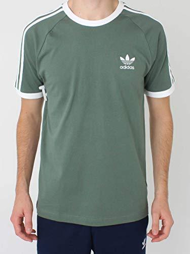 Adidas 3-stripes, t-shirt uomo, trace green, l