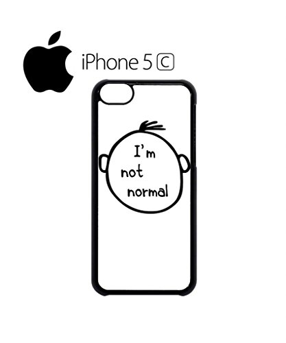 I am Not Normal Nerd Mobile Cell Phone Case Cover iPhone 5c Black Schwarz